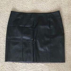 Black leather like skirt.